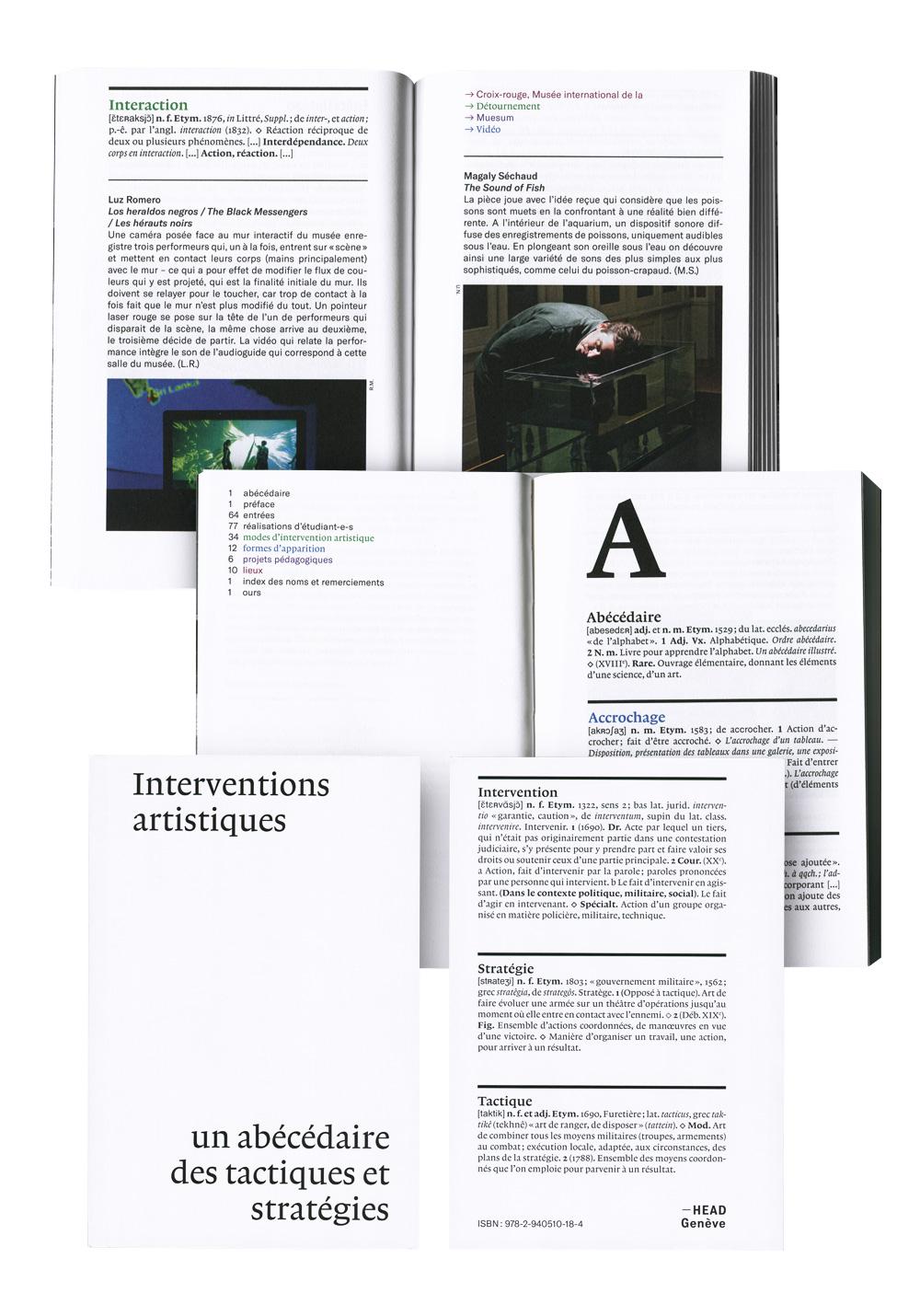 HEAD-Genève, Interventions artistiques, un abécédaire des tactiques et stratégies